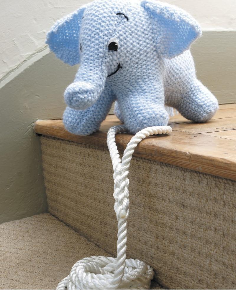 strikket elefant opskrift