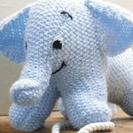 Lyseblå elefant