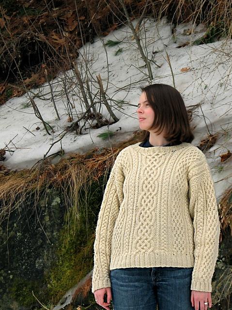 aran sweater opskrift