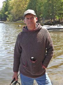 Herresweater med hætte