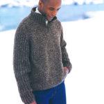 Herresweater med lynlåskrave