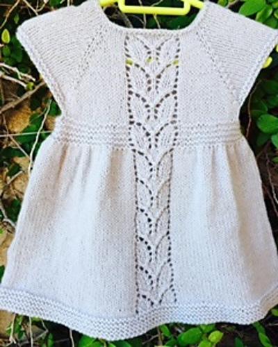 strikkeopskrift babykjole